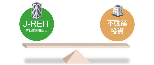 J-REITと不動産投資の違い