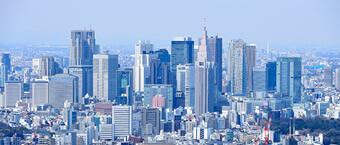 東京新宿風景スカイスクレイパー
