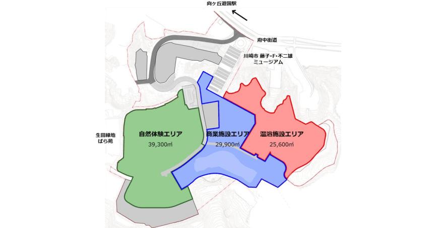 向ヶ丘遊園跡地に商業施設、温浴施設を再開発