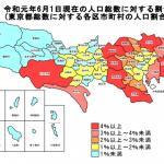 東京都23区人口ランキングTOP5【2019年6月】