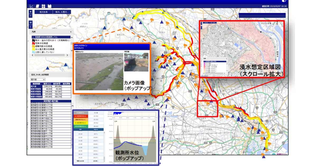 洪水の危険度が分かる「水害リスクライン」提供開始