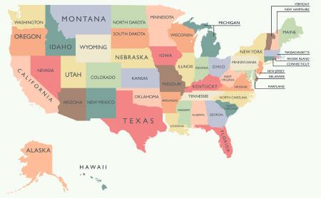 アメリカ 州